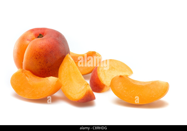 Aprikose Scheiben Stockbild