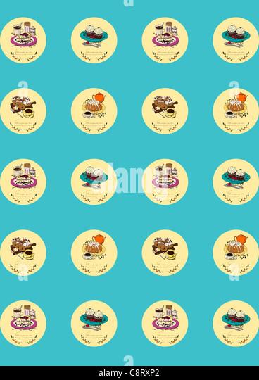 Essen-Icon-Set Stockbild