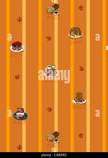 Gebackene Speisen-Icon-Set Stockbild
