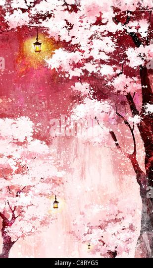 Schneebedeckten Baum Stockbild