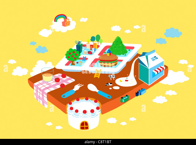 Café-Illustration Stockbild