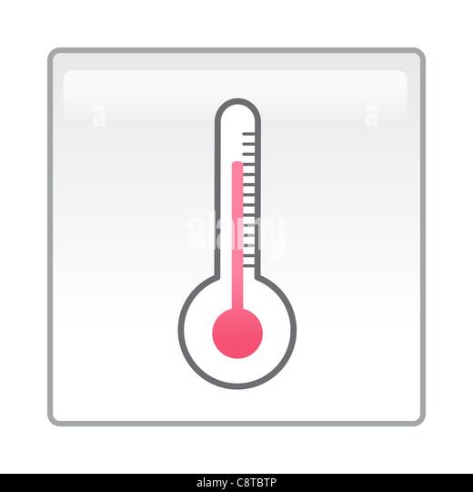 Abbildung des Thermometers Stockbild