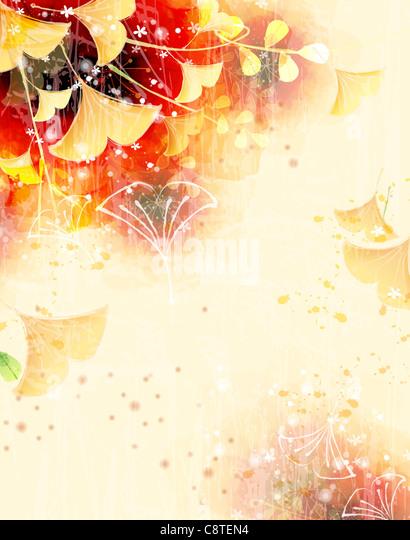 Flora-Hintergrund Stockbild