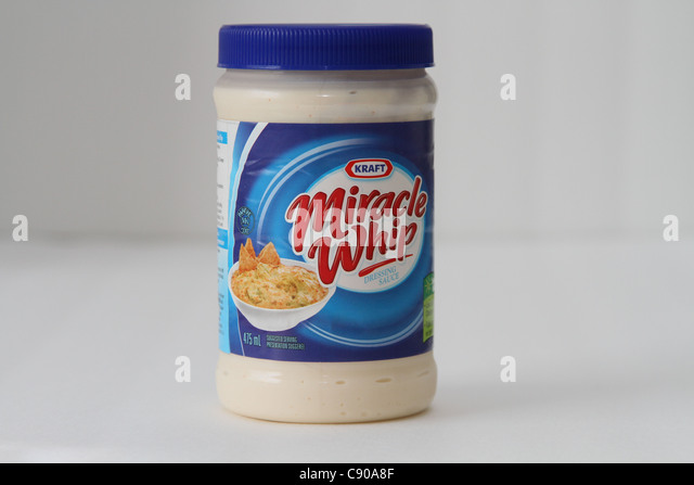 Mayonnaise Mayo Glas Fett ungesund Stockbild