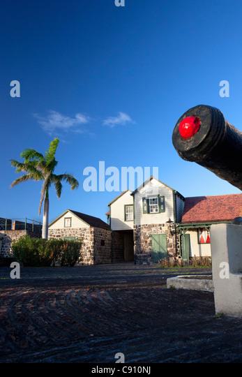 Den Niederlanden, Oranjestad, Sint Eustatius Insel, Niederländische Karibik. Fort Oranje, gebaut im Jahre 1629. Stockbild