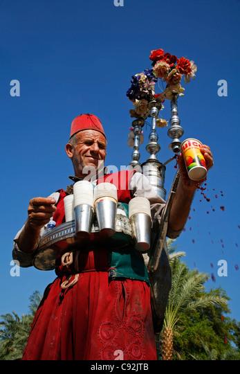 Traditionelle Wasser-Verkäufer, Aqaba, Jordanien. Stockbild