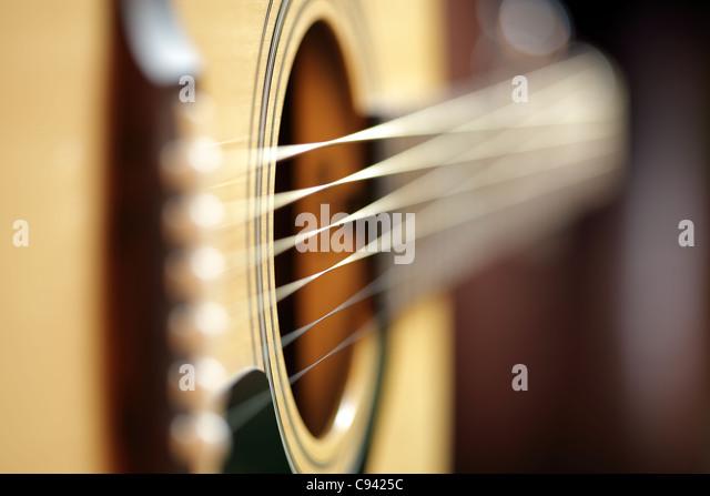 Akustische Gitarre abstrakt Stockbild