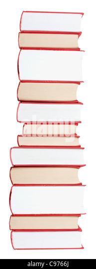 Große Bücher in einem Stapel Stockbild