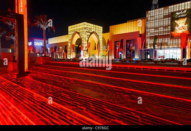 Haupteingang der DUBAI MALL, die Welt ist die größte Mall, Downtown Dubai, Dubai, Vereinigte Arabische Stockbild
