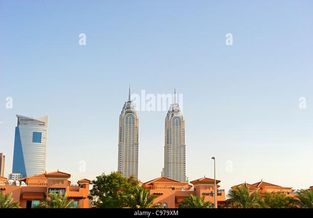Hochhäuser, Downtown Dubai, Dubai, Vereinigte Arabische Emirate, Naher Osten Stockbild