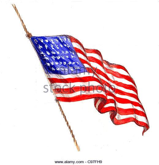 historische Flagge der Usa historische Geschichte historisch Geschichte historisch ein Stockbild