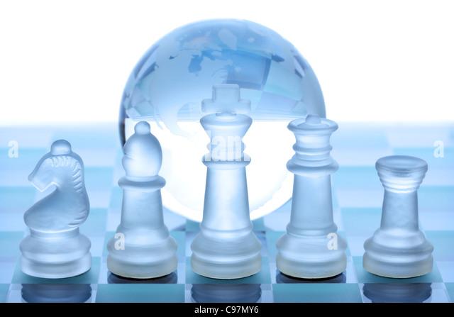 Globale Strategiekonzept Stockbild