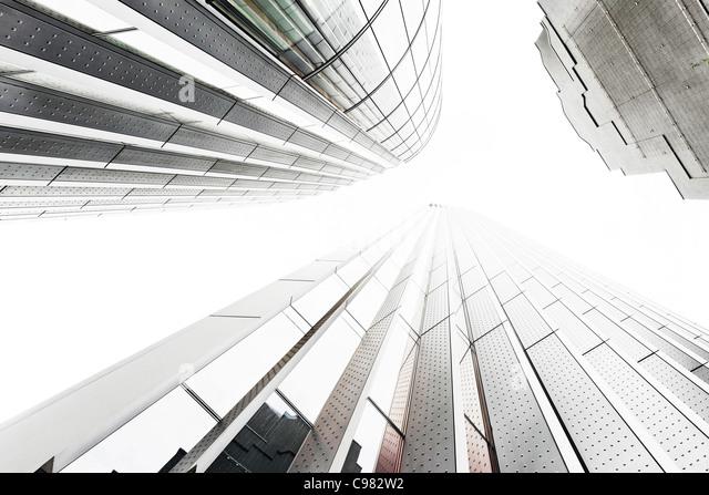 Türme, Hochhäuser, äußere Würmer-Auge Ansicht, City of London, England, United Kingdom, Stockbild
