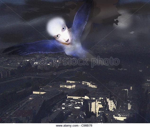 Engel über die Stadt städtische Urbanität Städte Stadt Intercity urban M Stockbild