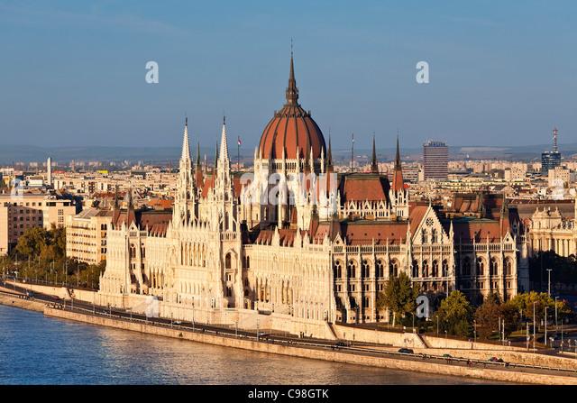 Budapest, Parlamentsgebäude Stockbild