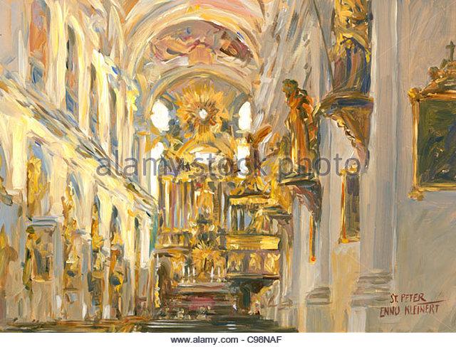 Serie München St. peter Stockbild