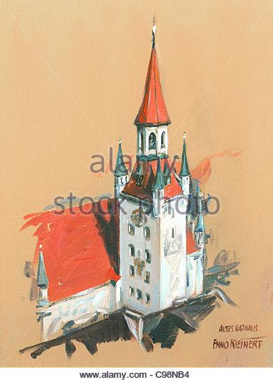 Serie Altes Rathaus München Stockbild