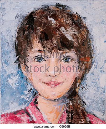 Mädchen Portrait Portraits Porträt Porträts Portrt Portrts Kopf Gesicht Gesichter Stockbild