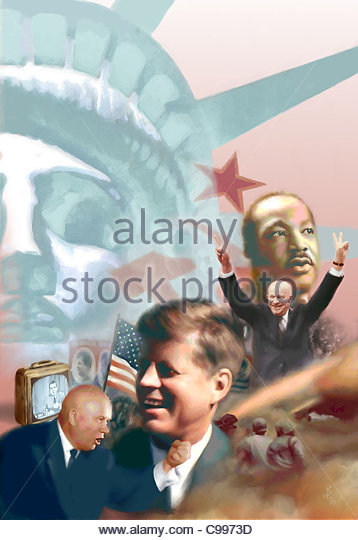 Amerikanische Politiker Geschichte Collage historischen historischen historisch Histo Stockbild