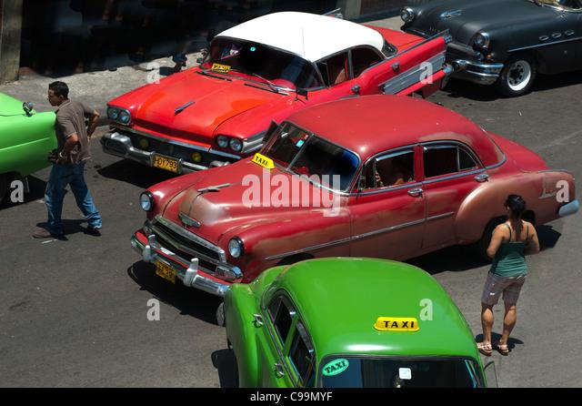 Oldtimer der alten Havanna Kuba Stockbild