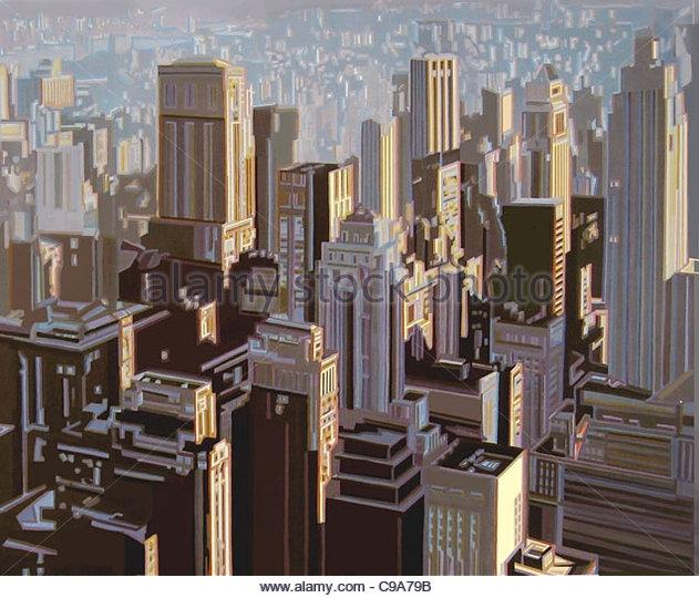 Manhattan-Serie City City städtische Urbanität Städte Stadt Intercity urban Stockbild