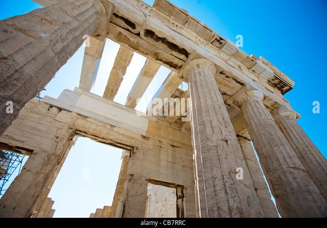 Reisebilder über Griechenland - Antike klassisches Griechenland-Architektur Stockbild