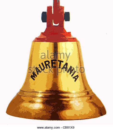 Schiffs Glocke Passagierdampfer Mauretanien Stockbild