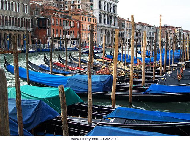 Venedig-Canal grande Stockbild