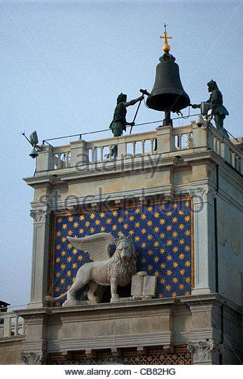 Venedig San Marco Platz Bell Stockbild