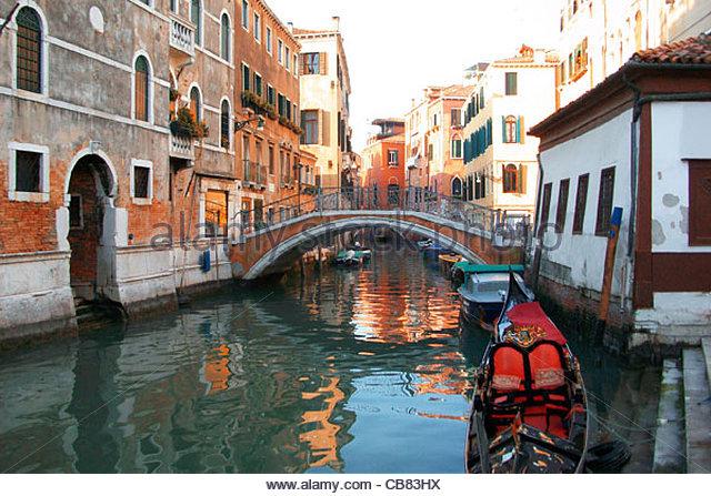 Venedig-Canal Stockbild