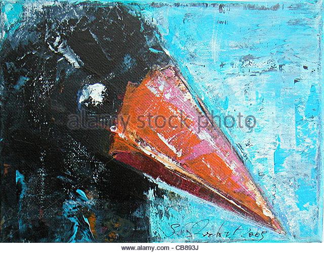 Raven-Profil Stockbild