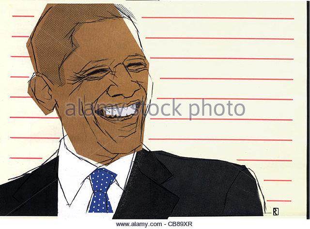 Barack Obama Usa Prsident Politiker macht Stockbild