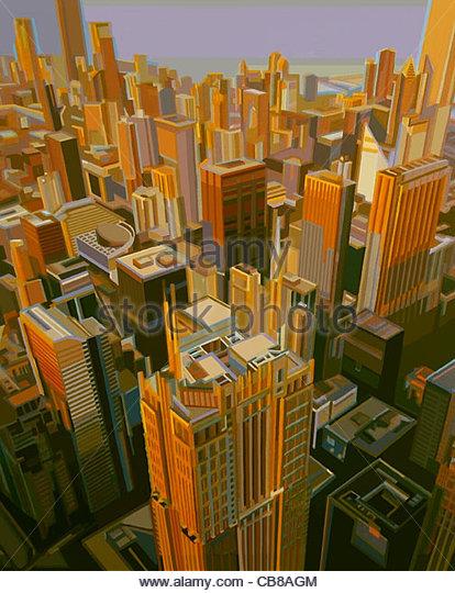 Chicago Usa Stadt Stadt Stadt Wolkenkratzer Serie städtischer Urbanität Städte cit Stockbild