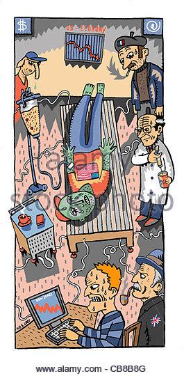 Amerikanische Patienten Stockbild