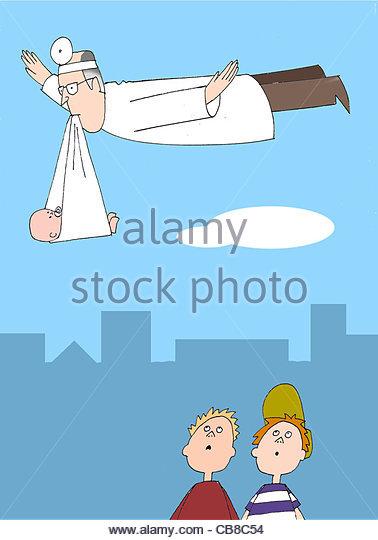 Ärzte-baby Stockbild