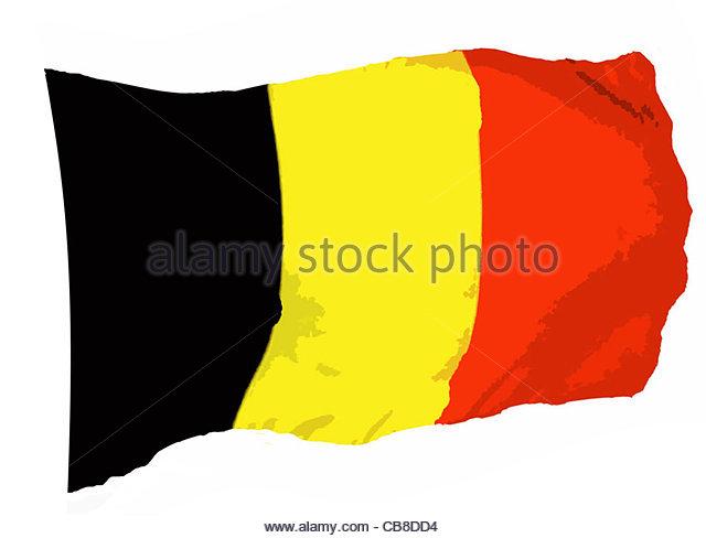 Serie Fahnen Flagge Belgien Stockbild