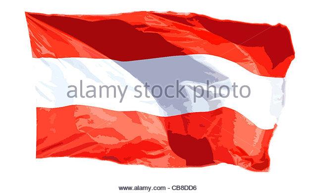Serie Fahnen Flagge Österreich Stockbild