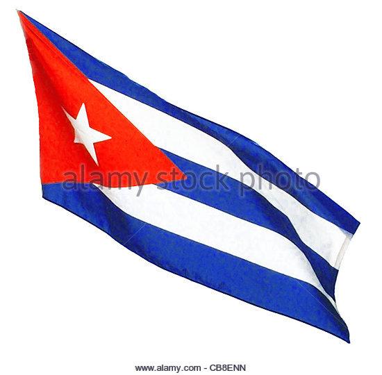 Serie Fahnen Flagge Kuba Stockbild
