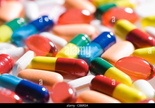 Pillen. Stockbild
