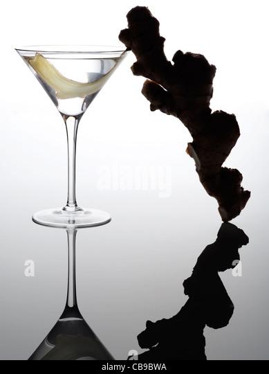 Ingwer martini - Stock-Bilder