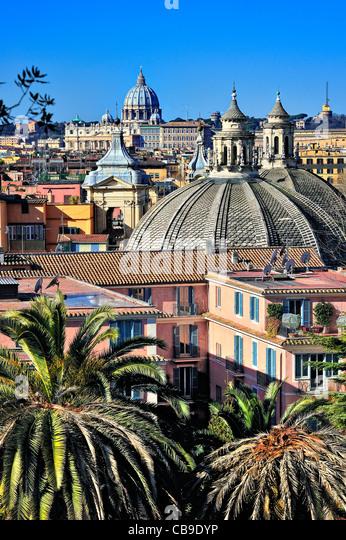 Übersicht, Rom, Italien. Stockbild