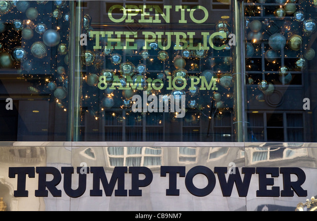 Trump Tower New York. Stockbild