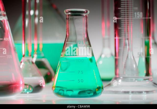 Chemischen Glaswaren Stockbild