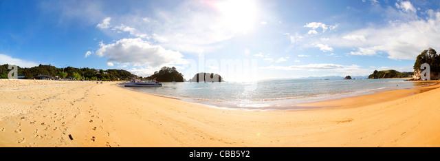Kaiteriteri Beach, Abel Tasman Nationalpark, Südinsel, Neuseeland Stockbild