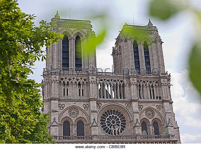 Kathedrale Notre Dame in Paris Stockbild