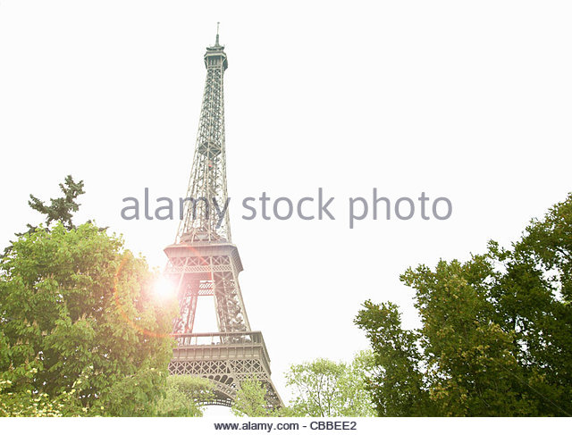 Eiffelturm in Paris. Stockbild