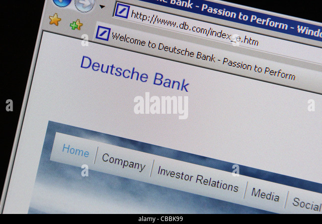 Deutsche Bank-db.com-website Stockbild
