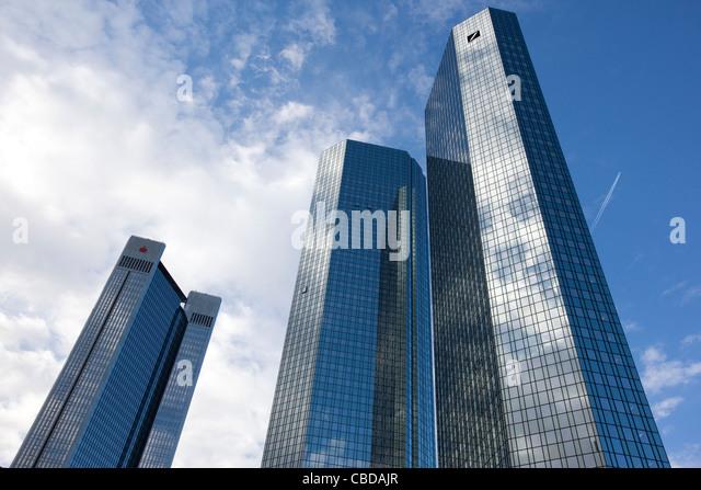 Deutsche Bank Zentrale Frankfurt Am Main, Frankfurt am Main, Deutschland. Stockbild