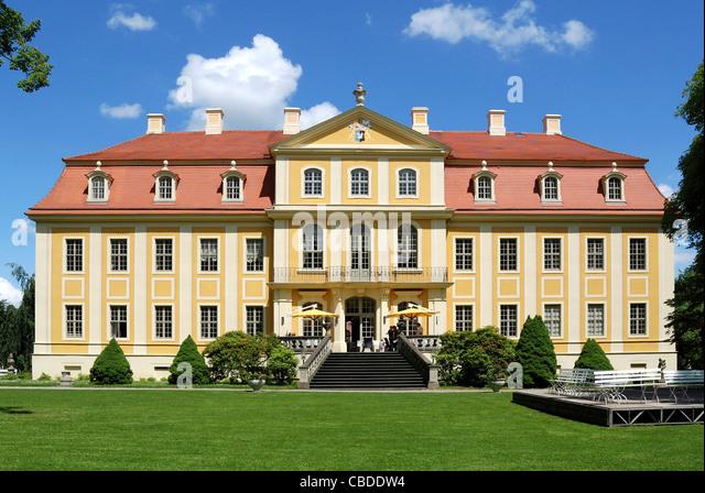 Barockschloss Rammenau. Stockbild
