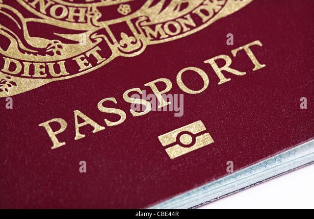 Britischen Reisepass Stockbild